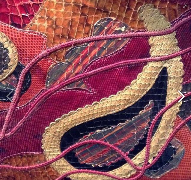 Vintage snakeskin purse © Laura Clapp