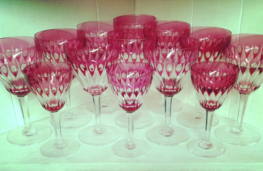 Czech glass goblets © Laura Clapp