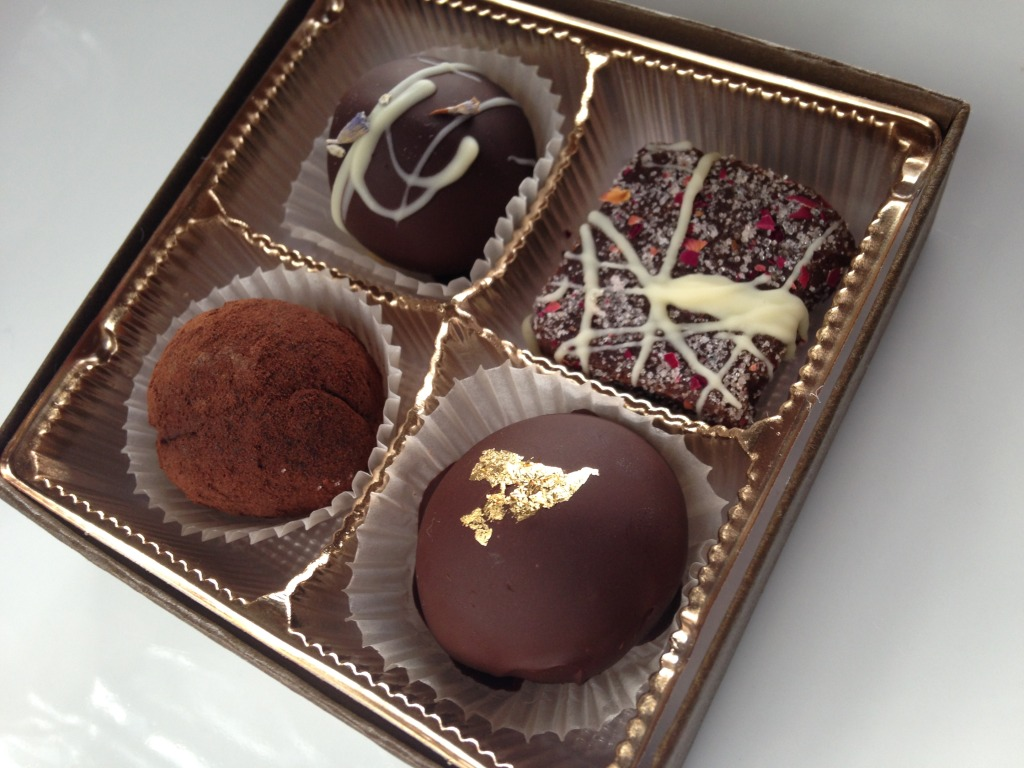 © J.N. Urbanski 4-truffle sampler box