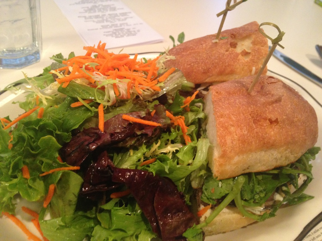 © J.N. Urbanski Roast Beef Sandwich with salad