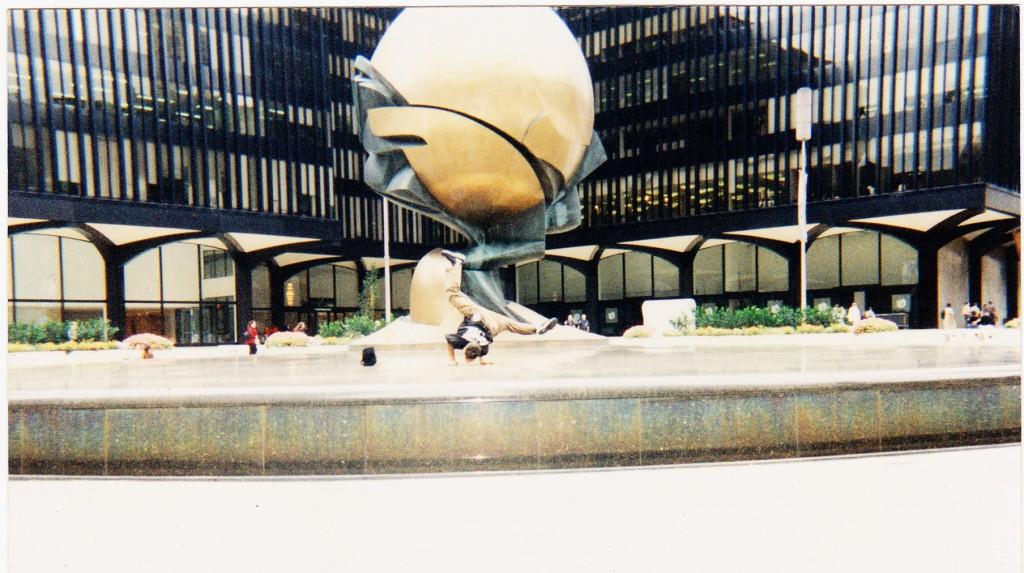 © J.N. Urbanski Vic, breakdancing at the World Trade Center, circa 1995