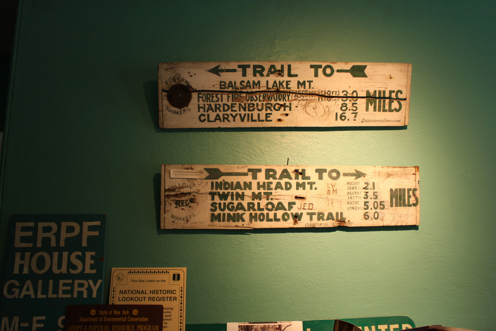 © J.N. Urbanski Antique Trail Markers at the Catskills Center