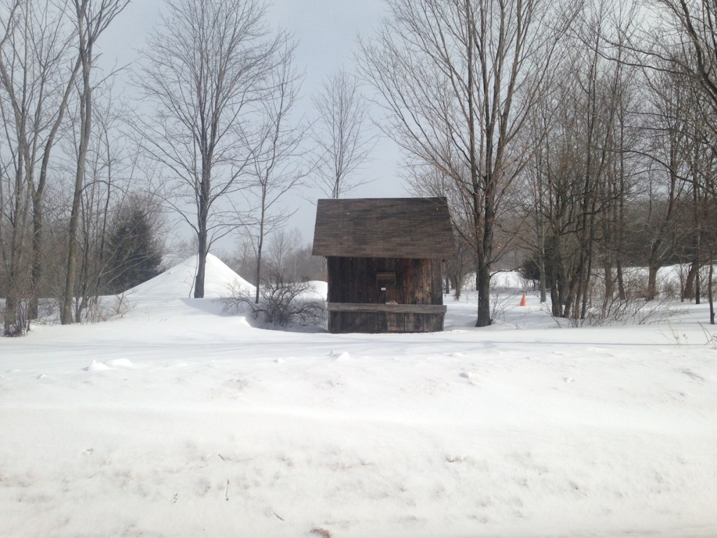 © J.N. Urbanski 10am Lonely maple syrup stand that we'll return to in the Spring...