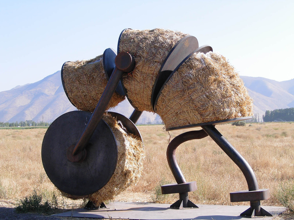 © J.N. Urbanski A Tom Otterness sculpture somewhere in Idaho