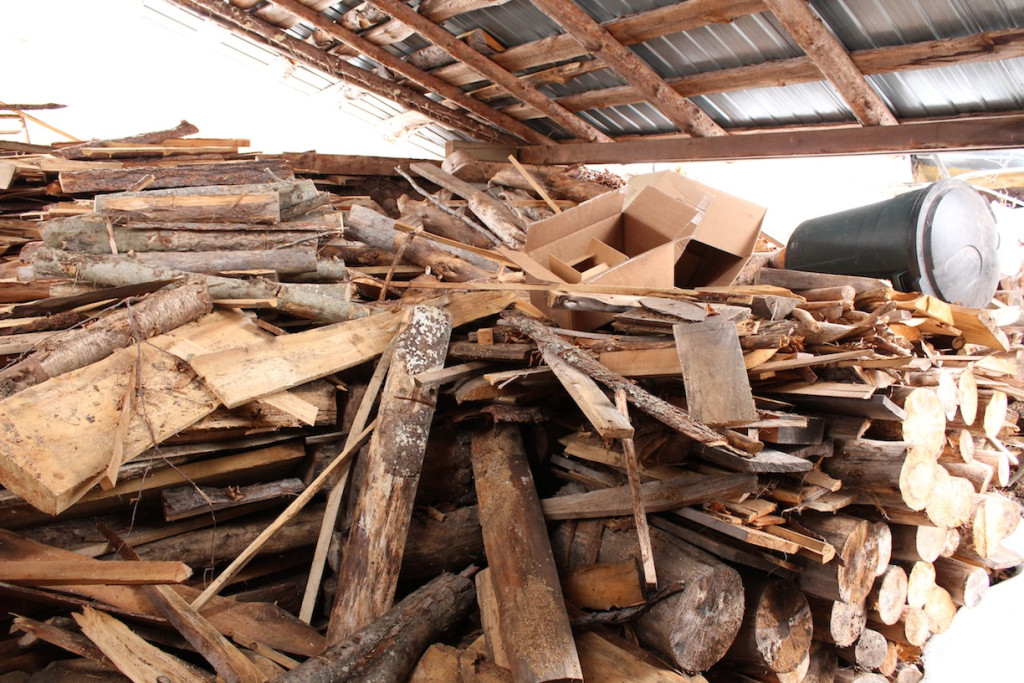 © J.N. Urbanski Wood stored for the month of boiling
