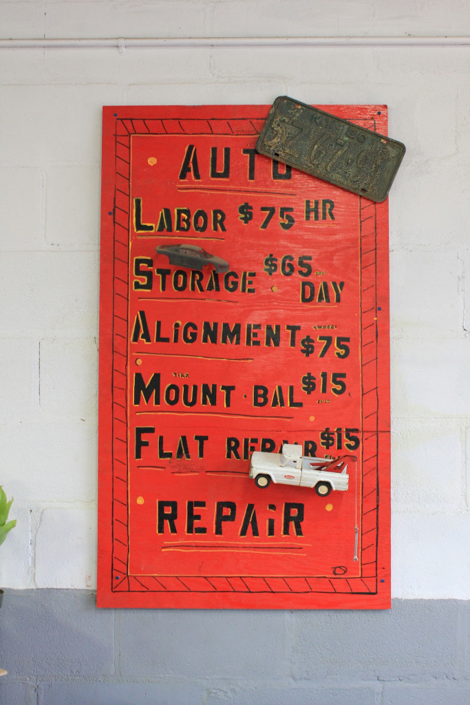 © J.N. Urbanski Noon - Shamro's Tire and Auto sign made by Tom