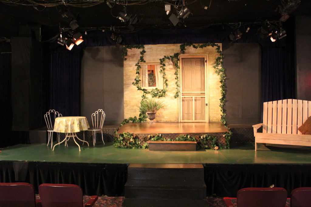 © J.N. Urbanski The set of Proof at the STS Playhouse, Phoenicia